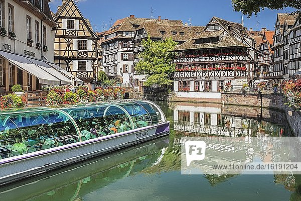 Maison des Tanneurs  Gerberviertel La Petite France  UNESCO Weltkulturerbe  Straßburg  Elsaß  Frankreich  Europa