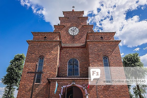 Church of Saint Joseph in Zalipie village in Lesser Poland Voivodeship of Poland  famous for its local tradition of folk paintings.