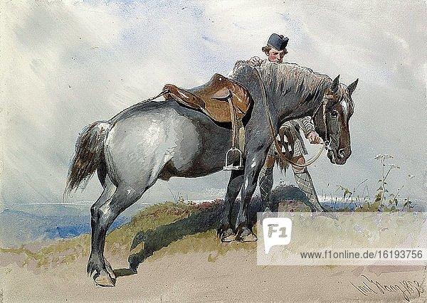 Haag Carl - Prince Albert's Pony - German School - 19th and Early 20th Century.