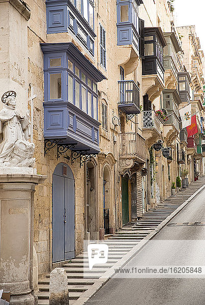 Steep old street  Valletta  Malta