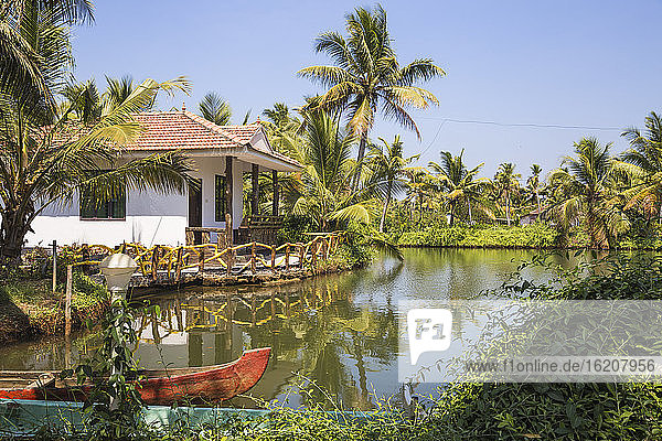 Resort auf der Insel Munroe  Kollam  Kerala  Indien  Asien