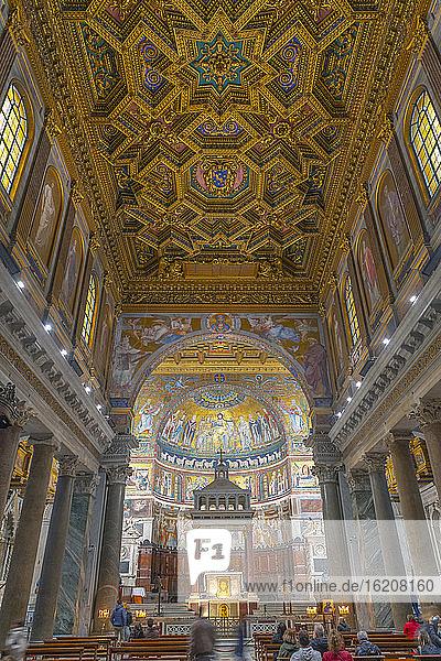 Basilika Unserer Lieben Frau in Trastevere (Basilica di Santa Maria in Trastevere)  Trastevere  Rom  Latium  Italien  Europa