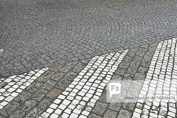 Belgium  Bruges  View of Empty road