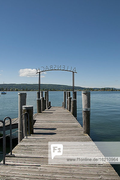 Germany  Baden Wuerttemberg  View of pier at Allensbach