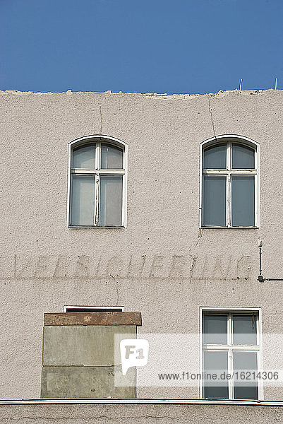 Germany  Berlin  Old building  Facade in decay
