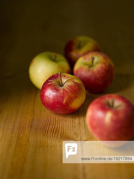 Frische Äpfel  Nahaufnahme