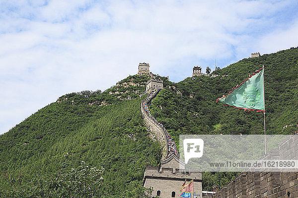 China  Blick auf die Große Mauer von China