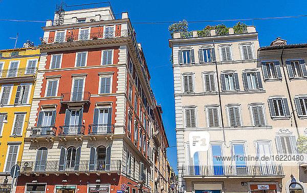 Italy  Rome  Piazza di Spagna  building via del Corso