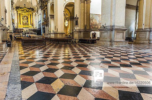 Italy  Veneto  Padua  marble paving of the Basilica of Saint Justine (16th century)