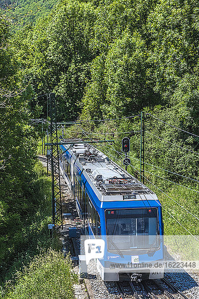 Spain  Catalonia  Pyrenees  comarque of Ripolles  rack train between Ribes de Fraser and Nuria