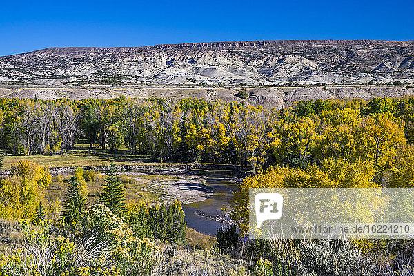 USA  Wyoming desert lanscape