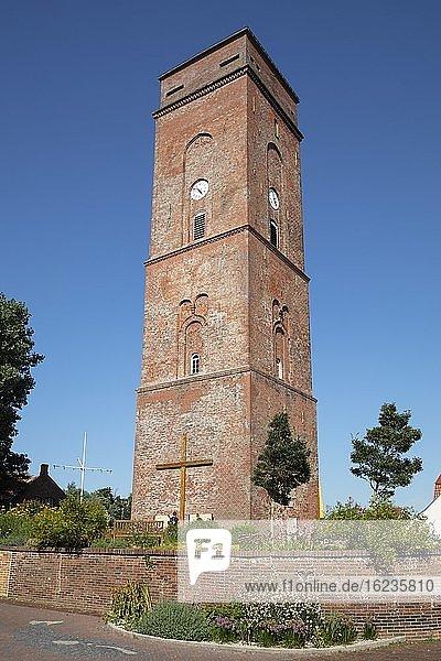 Alter Leuchtturm  Borkum  Ostfriesische Insel  Ostfriesland  Niedersachsen  Deutschland  Europa