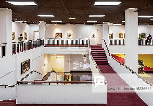Nationalgalerie von Jamaika  Innenansicht  Innenstadt  Kingston  Kingston Parish  Jamaika  Westindische Inseln  Karibik  Mittelamerika