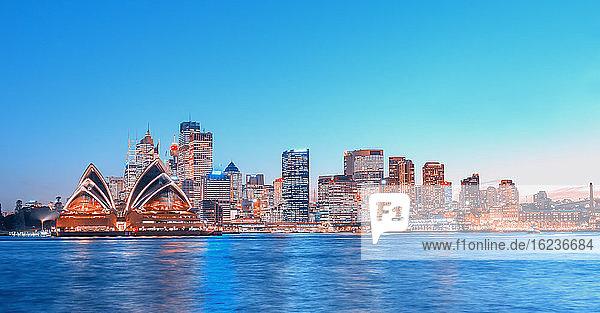 Skyline des Central Business District  Sydney  New South Wales  Australien  Pazifik