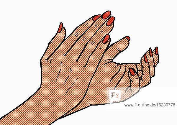Nahaufnahme von klatschenden Händen