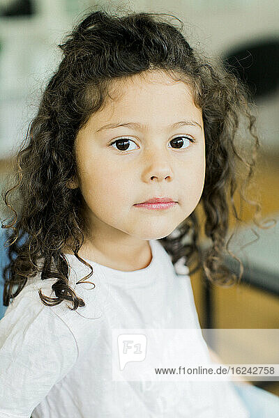 Portrait of girl looking at camera