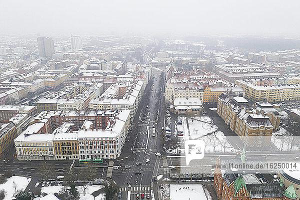 Stadtbild im Winter
