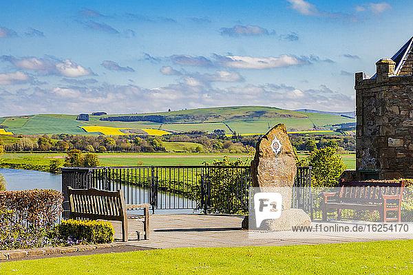 Coldstream Guards Monument in Henderson Park; Coldstream  Scottish Borders  Scotland