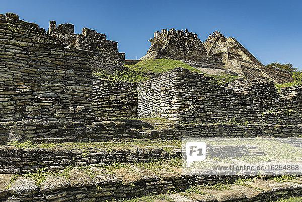 Tonina  präkolumbianische archäologische Stätte und Ruinenstadt der Maya-Zivilisation; Chiapas  Mexiko