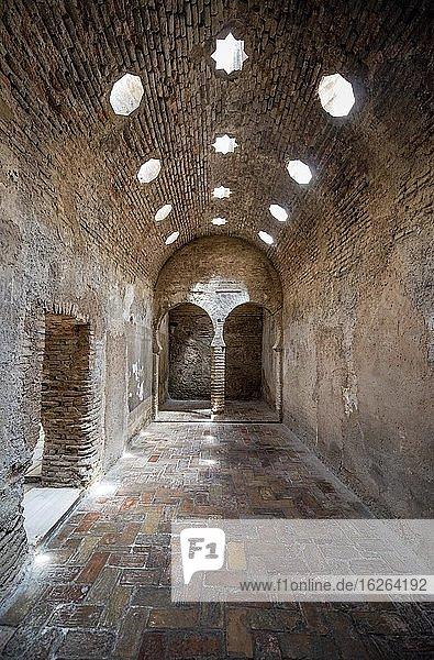 Historic Moorish bath house  Arab baths  El Bañuelo  Granada  Andalusia  Spain  Europe