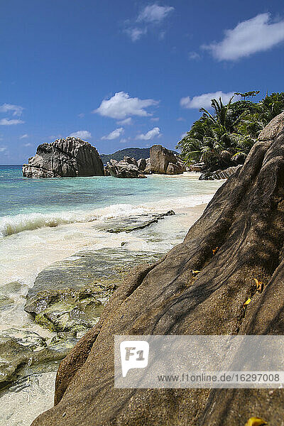 Seychelles  La Digue  beach landscape