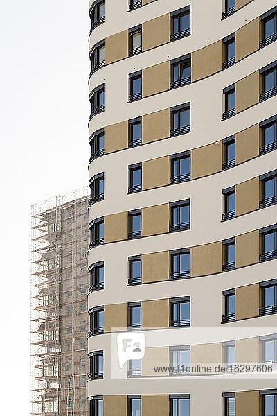 Deutschland  Bayern  München  Wohnhochhaus im Bau Deutschland, Bayern, München, Wohnhochhaus im Bau