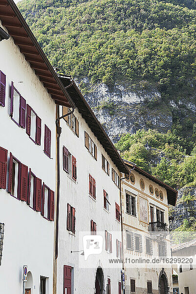 Italy  South Tyrol  Wine route  Wine village Magreid  typical houses