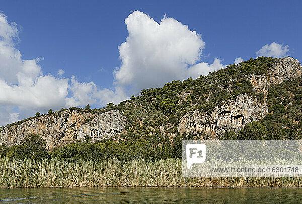 Turkey  Dalyan  Lycian Rock Tombs of Kaunos