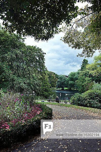 Germany  North Rhine-Westphalia  Dusseldorf  Volksgarten park