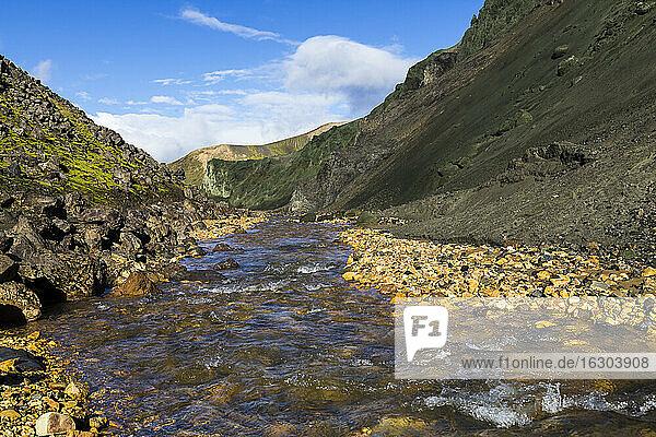 Iceland  Sudurland  Landmannalauger  Volcanic highland