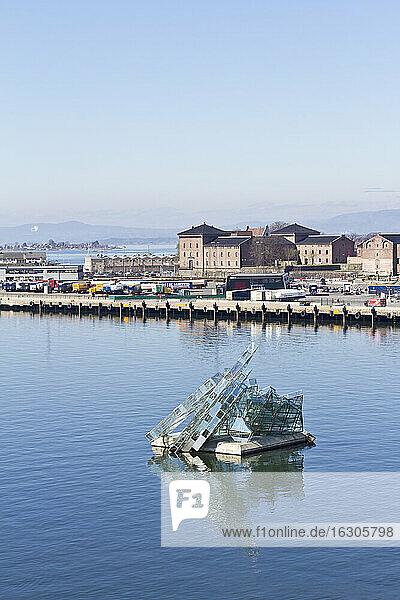 Scandinavia  Norway  Oslo  Harbour  Sculpture