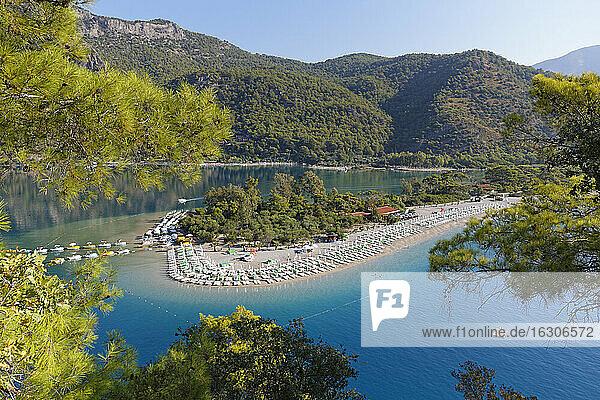 Turkey  Lycia  Beach and lagoon of Oeluedeniz