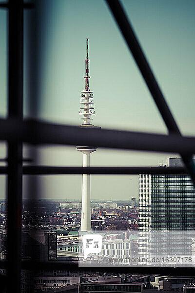 Germany  Hamburg  View from St. Nicholas church to TV tower