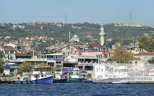 Turkey  Istanbul  Fishing harbour in Sariyer