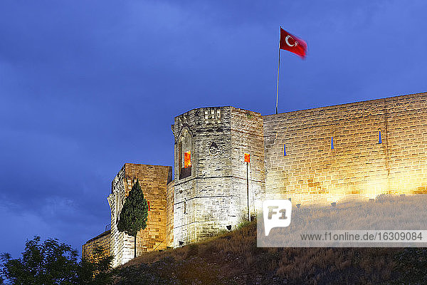 Turkey  Gaziantep  citadel in the evening