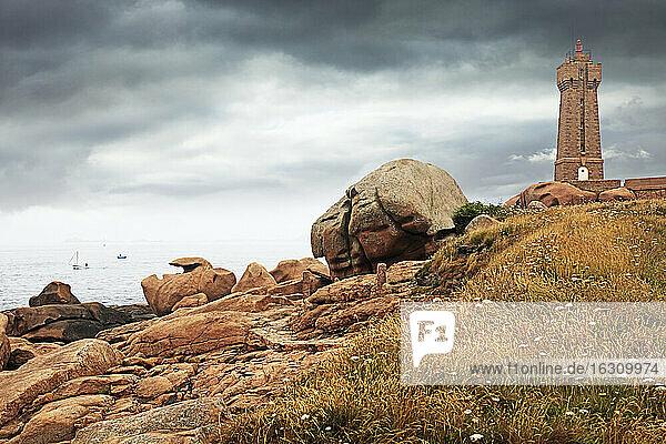 France  Bretagne  Perros-Guirec  Lighthouse Mean Ruz