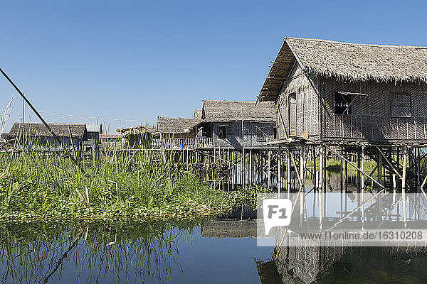 Burma  Inle-See  Fischerdorf