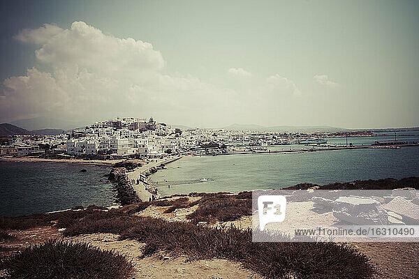 Greece  Cyclades  Naxos City  Harbour