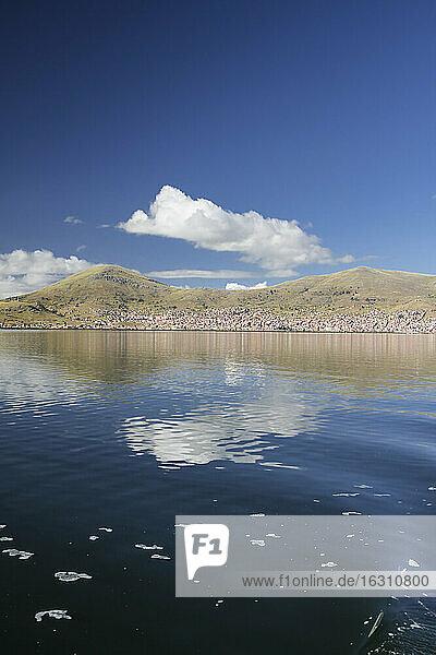 South America  Peru  Lake Titicaca  cityscape Puno