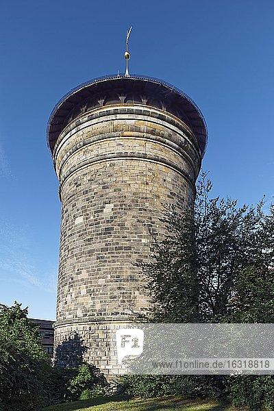 Laufer Torturm  alter Name Schwarz M  1377  Wehrturm in vorletzter Stadtmauer  Äußerer Laufer Platz  Maxtormauer 11  Altstadt St. Sebald  Nürnberg  Mittelfranken  Franken  Bayern  Deutschland  Europa