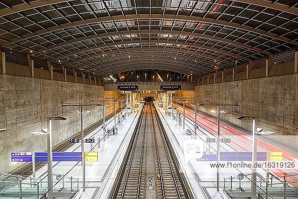 S-Bahn station Deutsche Bahn at Cologne Bonn Airport (CGN)  Cologne  Germany  Europe