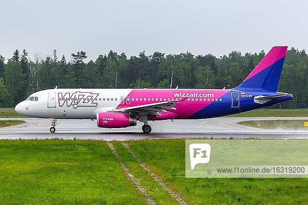 An Airbus A320 aircraft of Wizzair with registration HA-LWN at Gdansk Airport (GDN)  Gdansk  Poland  Europe