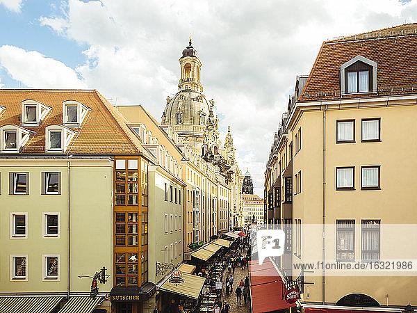 Germany  Saxony  Dresden  Cupola of Dresden Frauenkirche