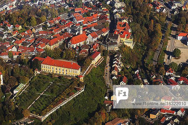 Germany  Bavaria  Dachau  View of Dachau Castle