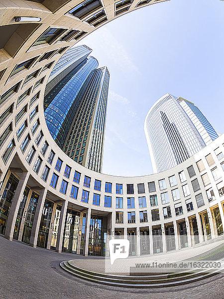 Germany  Hesse  Frankfurt  Frankfurt-Gallus  Tower 185  wide angle view