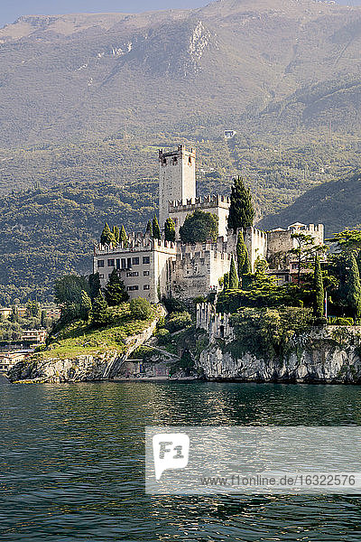 Italy  Veneto  Malcesine with Castello Scaliger