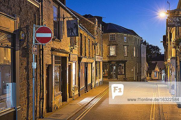 UK  Wales  Hay-on-Wye  Houses in Lion Street