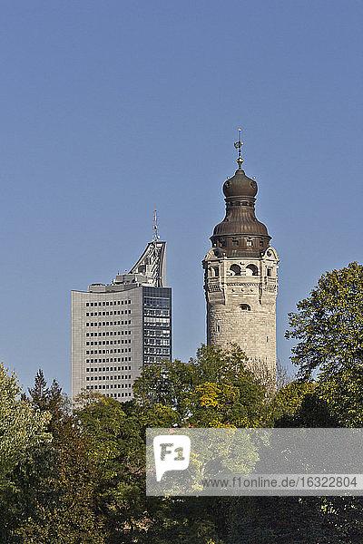 Germany  Saxony  Leipzig  New City Hall and University Tower