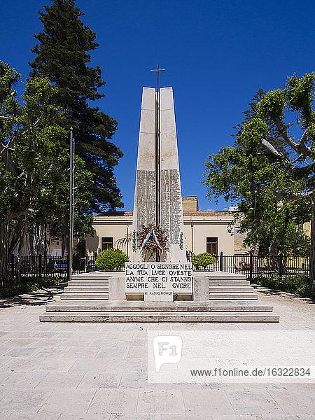 Italy  Sicily  Province of Trapani  Marsala  Via Andrea D'Anna  War memorial