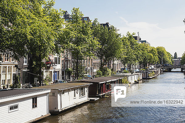 Netherlands  County of Holland  Amsterdam  Prince's Canal  house boats